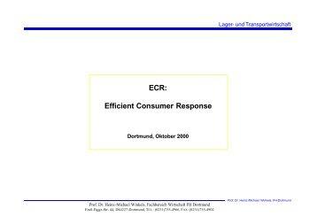 ECR: Efficient Consumer Response - Prof. Dr. Heinz-Michael Winkels