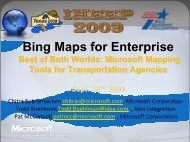 Bing Maps for Enterprise - Texas Department of Transportation