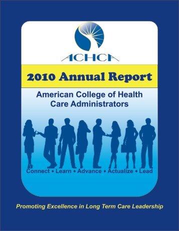 2010 Annual Report - ACHCA
