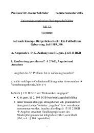 Fall nach - Prof. Dr. Rainer Schröder