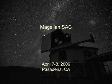 Technical manager's report - MagellanTech