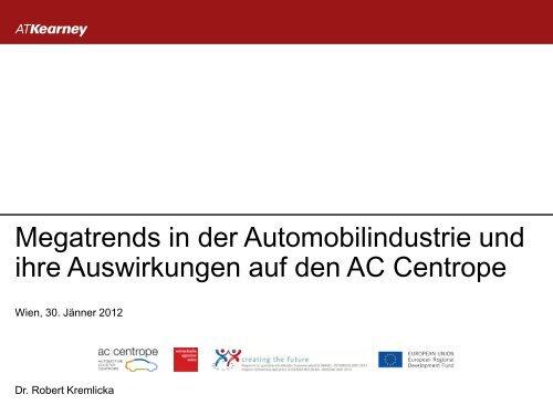 Megatrends in der Automobilindustrie und ihre Auswirkungen auf ...