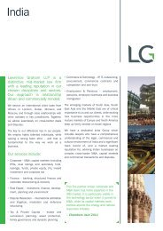Lawrence Graham LLP is a distinctive mid-market law firm with a ...