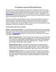 Chinos Fact Sheet - Lands' End