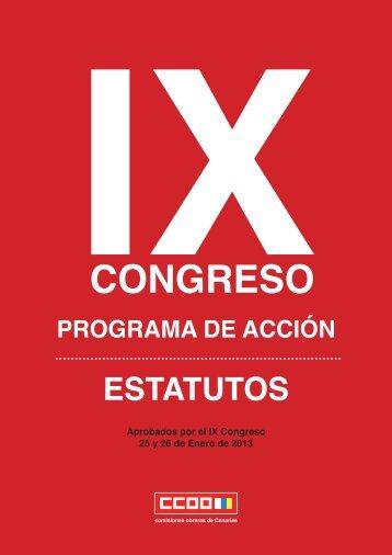 IXCONGRESO - Comisiones Obreras de Canarias - CCOO