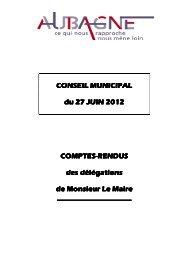 Compte rendu des délégations du Conseil Municipal