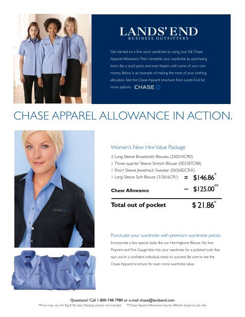 Chase Apparel Allowance In Action Lands End