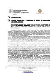 Comunicato stampa - Policlinico di Modena