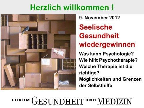 Was tun bei seelischen Problemen? - Forum Gesundheit und Medizin