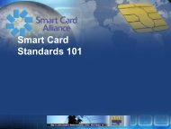 Smart Card Standards 101 - Smart Card Alliance