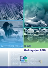 Activiteitenverslag AHOVOS editie 2011, werkingsjaar 2010 (pdf,10