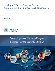 Catalog of Control Systems Security ... - SCADAhacker