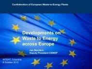 Developments on Waste to Energy across Europe - WTERT
