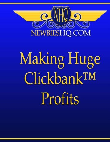Clickbank For Fast Profits - Fitness Marketing Newsletter