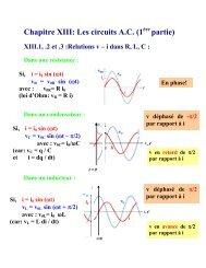 Chapitre XIII: Les circuits A.C. (1 partie) - IIHE