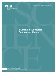 Building a Successful Technology Cluster