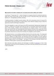 PRESS RELEASE: IEE@IAA 2011