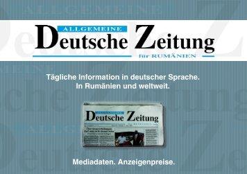 Tägliche Information in deutscher Sprache. In Rumänien und ...