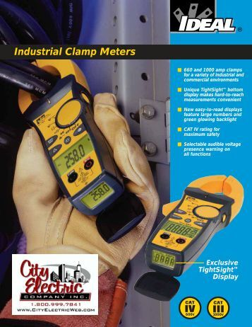 IDEAL Industrial Clamp Meters Brochure - City Electric Company Inc.