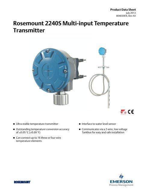 Rosemount 2240S Multi-input Temperature Transmitter ... on