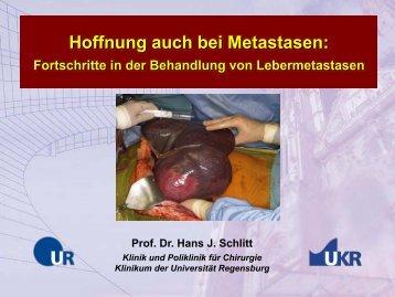 Hoffnung auch bei Metastasen: - Tumorzentrum Regensburg eV