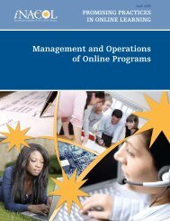 Management and Operations of Online Programs - iNACOL