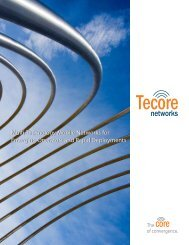 Multi-Technology Mobile Networks for Emerging Operators ... - Tecore