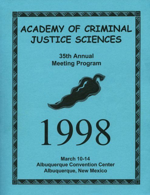 1998 Annual Meeting Program - Academy of Criminal Justice