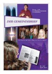 Gemeindebrief April 2013 - St.Matthaeus-Gemeinde Hunteburg