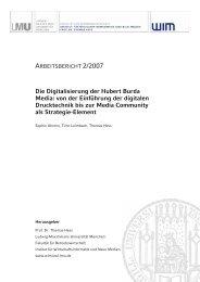 Die Digitalisierung der Hubert Burda Media: von der ... - EconBiz