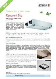 Větrací jednotka pro podstropní montáž Renovent Sky - Štorc
