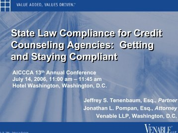 Click to add title - Venable LLP