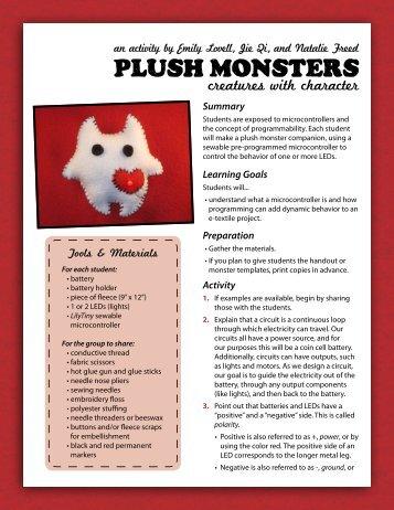 Plush Monsters - MIT Media Lab
