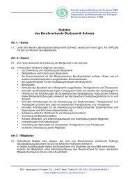 Statuten - Berufsverband Biodynamik Schweiz