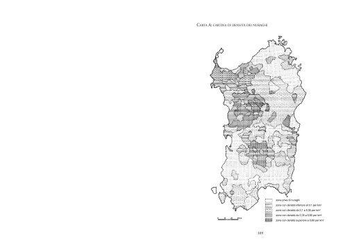 Mappa Sardegna 1954.Carta A Cartina Di Densita Dei Nuraghi Sardegna Cultura