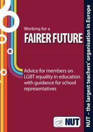 NUT's Working for a Fairer Future document - National Union of ...