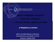 Centre of Migration Research University of Warsaw ... - PolSCA