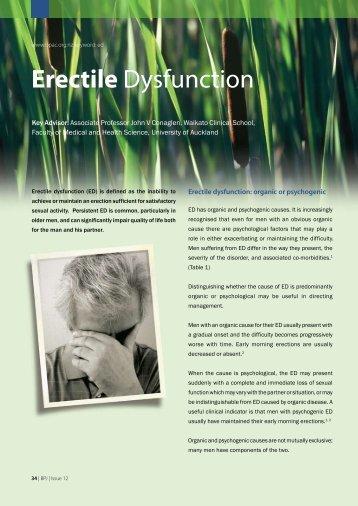 Erectile Dysfunction - Bpac.org.nz