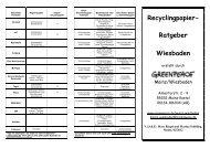 Recyclingpapier- Ratgeber Wiesbaden - Greenpeace Gruppen in ...