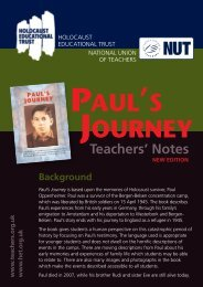 Pauls Journey Notes - National Union of Teachers