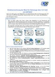 Informationen zu GO-Direkt der ASFINAG - Transporteure