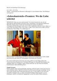 Premiere - Theatergruppe Schwobastroich eV