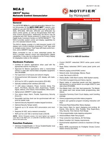 Nfs2 3030 Notifier Pdf Document