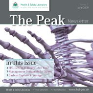 In This Issue - Health and Safety Laboratory