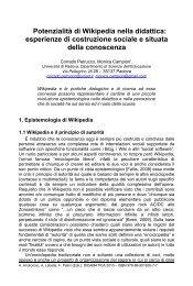 Potenzialità di Wikipedia nella didattica - Didamatica 2010