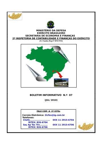 30 Jul 10 - 2ª ICFEx - Exército Brasileiro