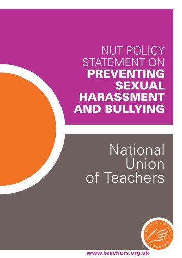 NUT policy statement on preventing sexual harassment and bullying