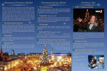Flyer | Dortmund Christmas Market 2013 - Dortmunder ...