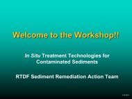 Welcome to the Seditments Workshop - Remediation Technologies ...