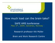 How much load can the brain take? - Safe